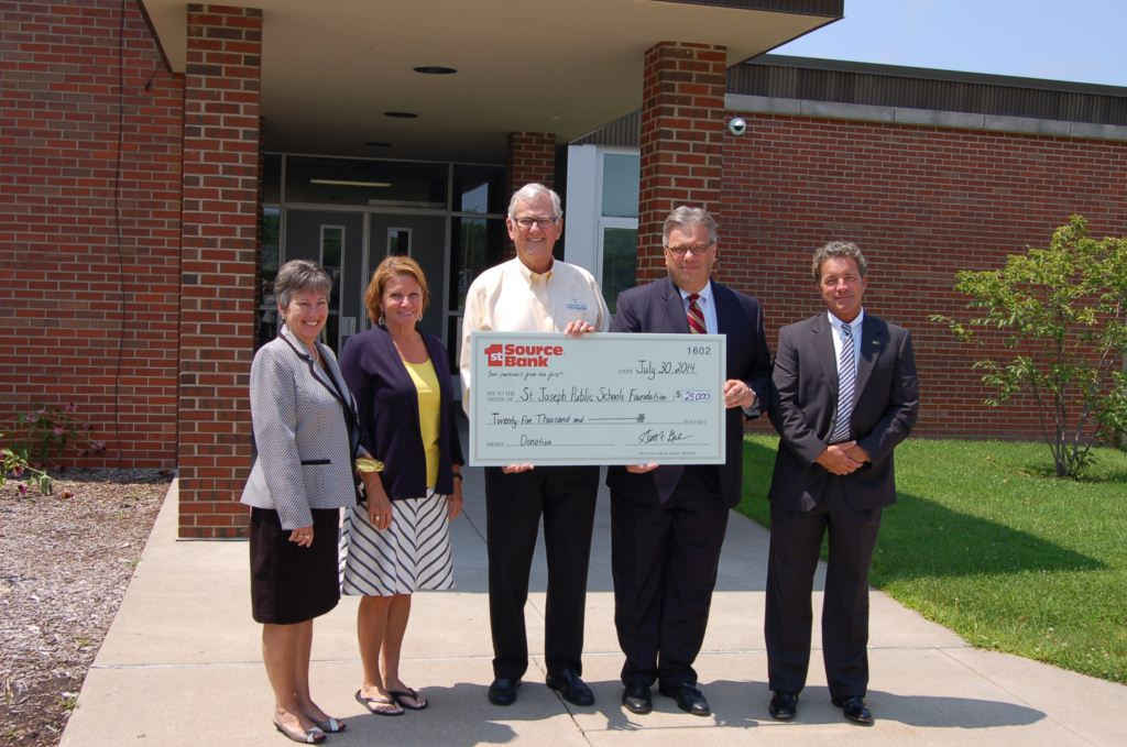 1st Source donates $25,000 to St. Joseph Public School Foundation-1470