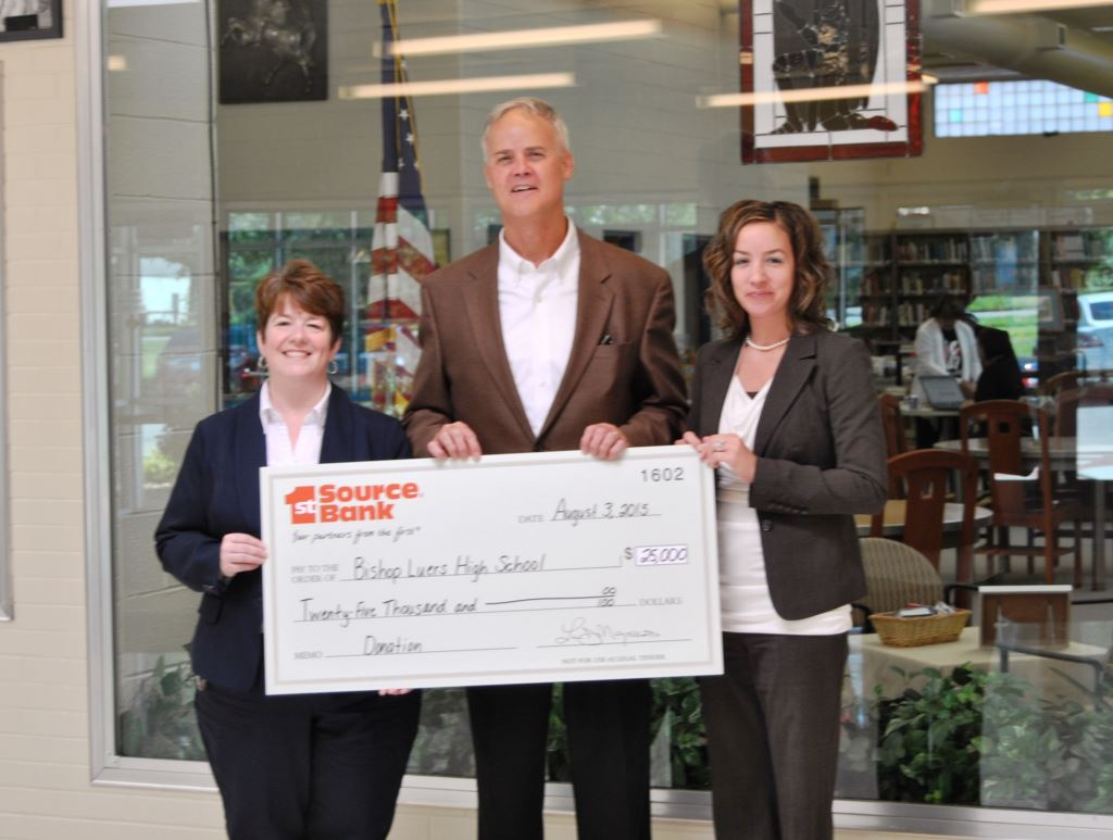 Bishop Luers check presentation