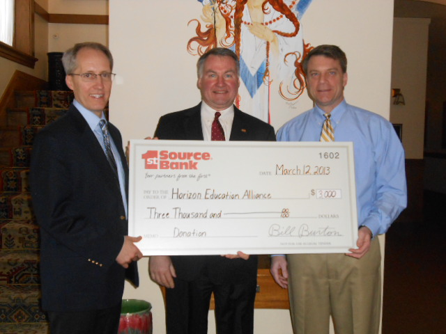 check presentation to Horizon Education Alliance