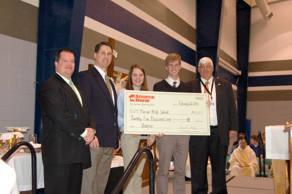 Check presentation to Marian High School