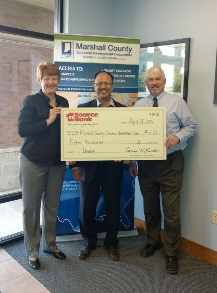 check presentation to Marshall County  Economic Development Corporation-1726
