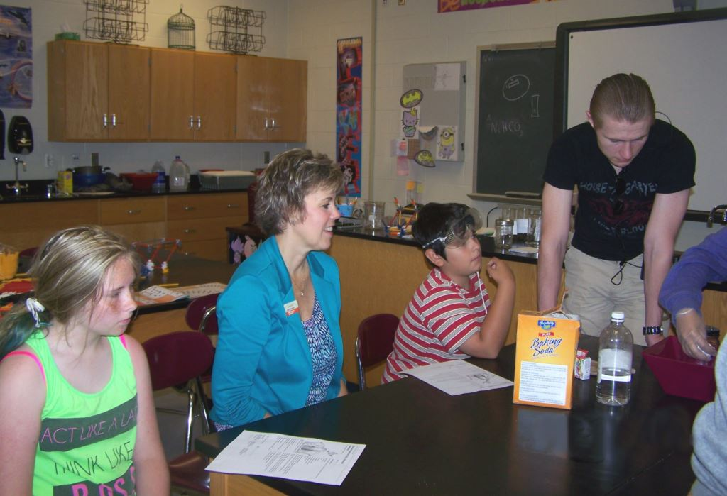 Judy Caudill assisting students at Starke County Youth Club