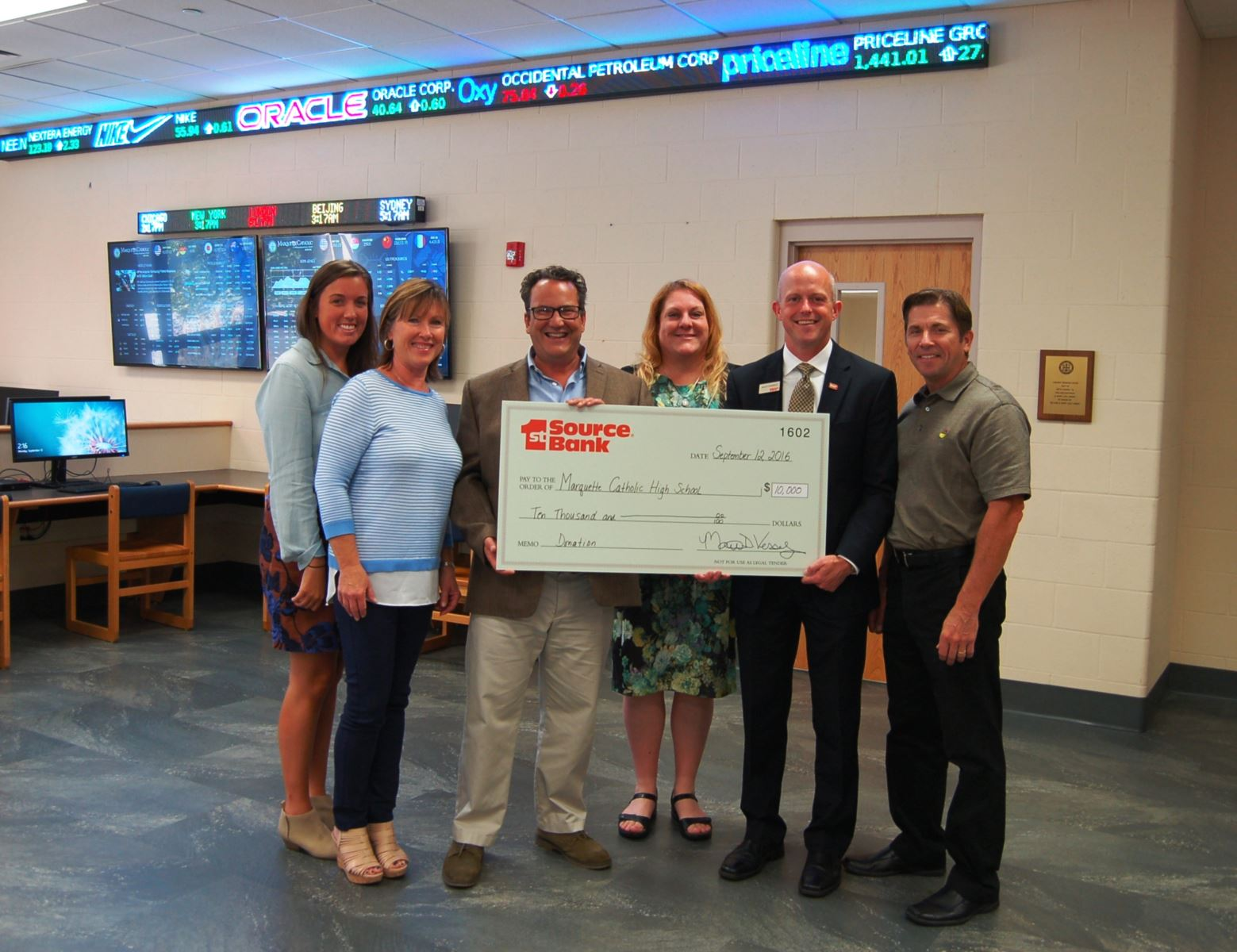 Marquette Catholic Check Presentation