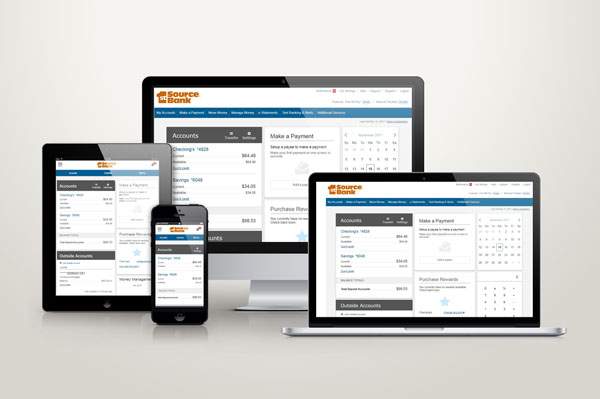 Responsive Online Banking on Various Devices