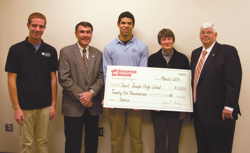 St Joseph High School Check Presentation