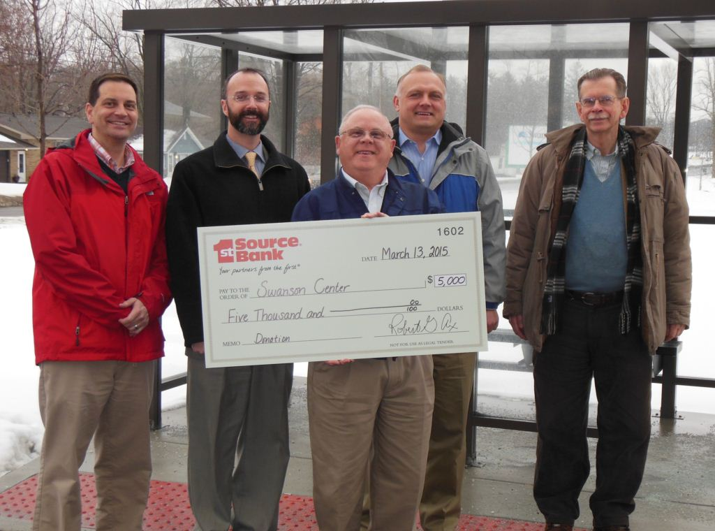 Swanson Center check presentation