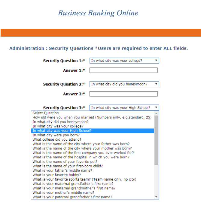 Business Banking Online