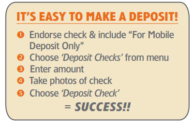 It's easy to make a deposit !