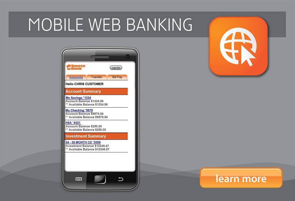 1st Source Bank Mobile Web Banking