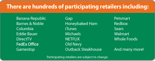 Purchase Rewards Participating Retailers